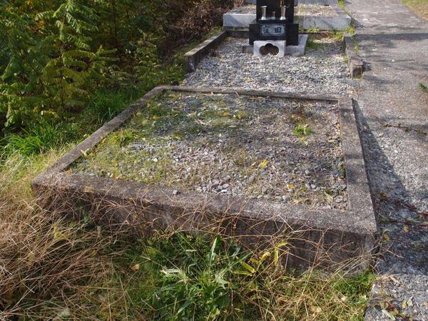 コンクリートで区画だけをして30年も放っておいた墓地